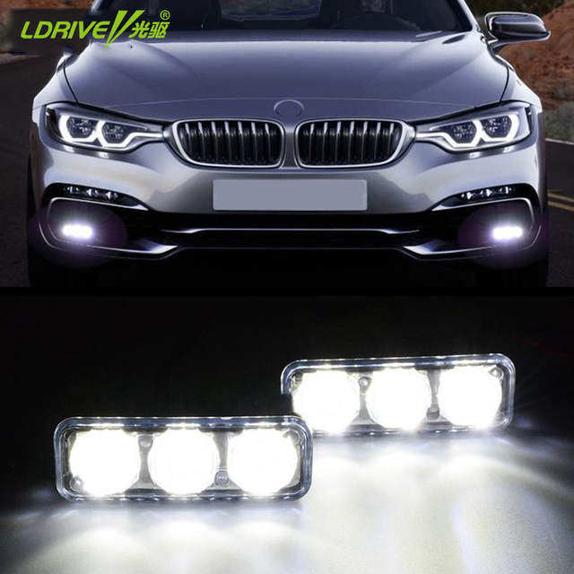 Online Shop 2 3 Led Universal Waterproof 12v Auto Car Headlight High
