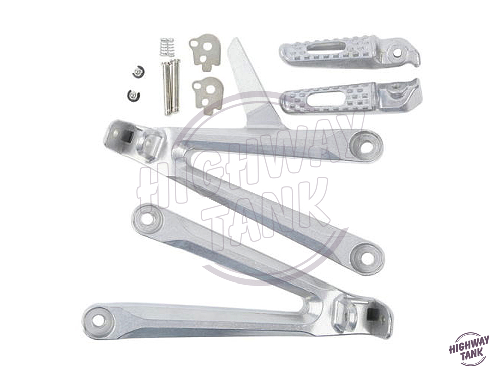 Silver Motorcycle Rear Passenger Footrest Foot Pegs Brackets Kit Moto Foot Rest Pedal Case for Honda CBR600RR 600RR 2005-2006 motorcycle foot rest scooter foot peg motorbike for kymco ak550 2017 2018 pedal modification part rear passenger foot rests