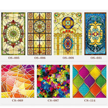 Custom electrostatic stained glass window film frosted church home foil stickers PVC self-adhesive films Decorative vinyl