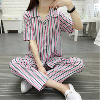 Hospital gown short sleeve hospital gown long sleeve vertical stripe pajamas for men patient suit