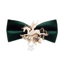 Fashion Men's Suit Bow Tie horse butterfly velvet For Groom Wedding Party Men Formal Wear Business Cravat Bow ties Accessories