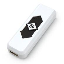 Portable Electronic Lighter USB Rechargeable Lighter Flameless Superman Cigar Cigarette Case Silent Windproof No Gas Gadget #KF
