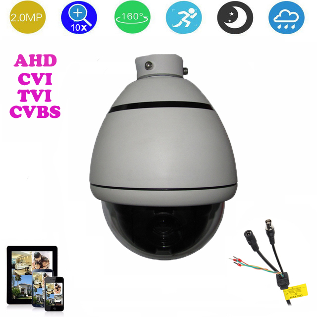 3.5-inch AHD/CVI/TVI/CVBS HD PTZ camera Middle Speed dome Camera 2.0MP 10x Auto zoom outdoor security camera No night vision 4 in 1 ir high speed dome camera ahd tvi cvi cvbs 1080p output ir night vision 150m ptz dome camera with wiper