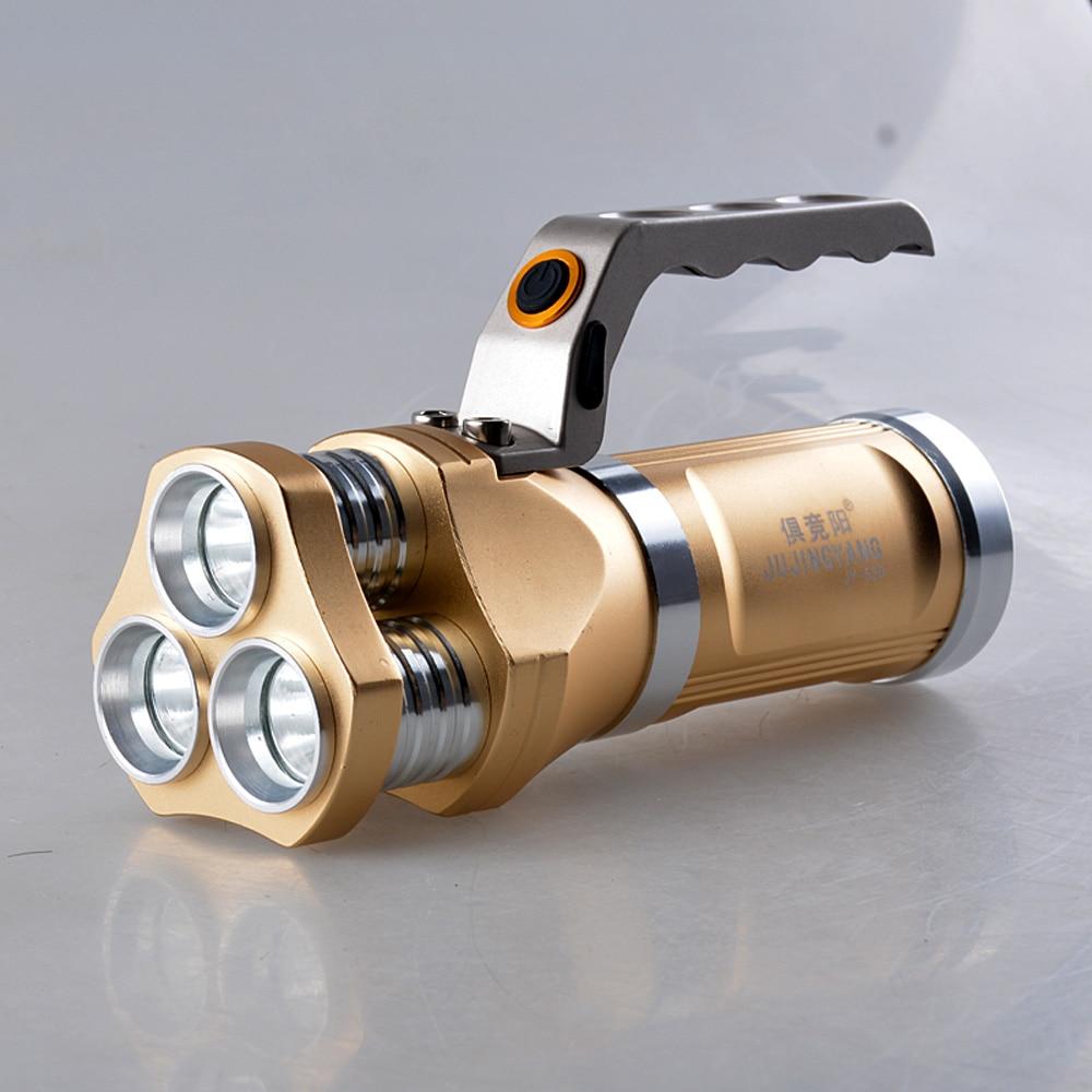 JUJINGYANG 5 mode handheld flashlight T6 30W strong light torch multifunctional long shot flashlight