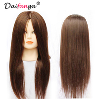 18 Human Hair Hairdresser Training Mannequin Dummy Head Cutting Styling Practice Head Plastic Female Mannequin Doll