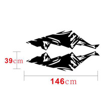 Snow Car sticker Mountain Pair Black Car Side Skirt Decor Decoration 2pcs(China)