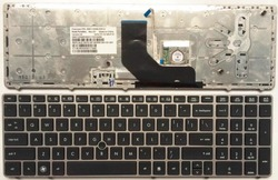 Z nami szary nowy angielski klawiatury laptopa klawiatura do HP EliteBook 8560 p 8570 P 8560B 6560b 6565b w Zamienne klawiatury od Komputer i biuro na