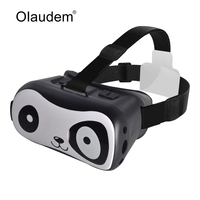 VR Glasses Google Cardboard Virtual Reality 3D Glasses Lovely Panda Design For 4 6 Inch IOS