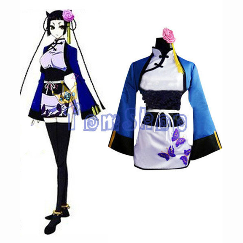 Black Butler Ran Mao Cosplay Dress Suit Women Girls Halloween ...