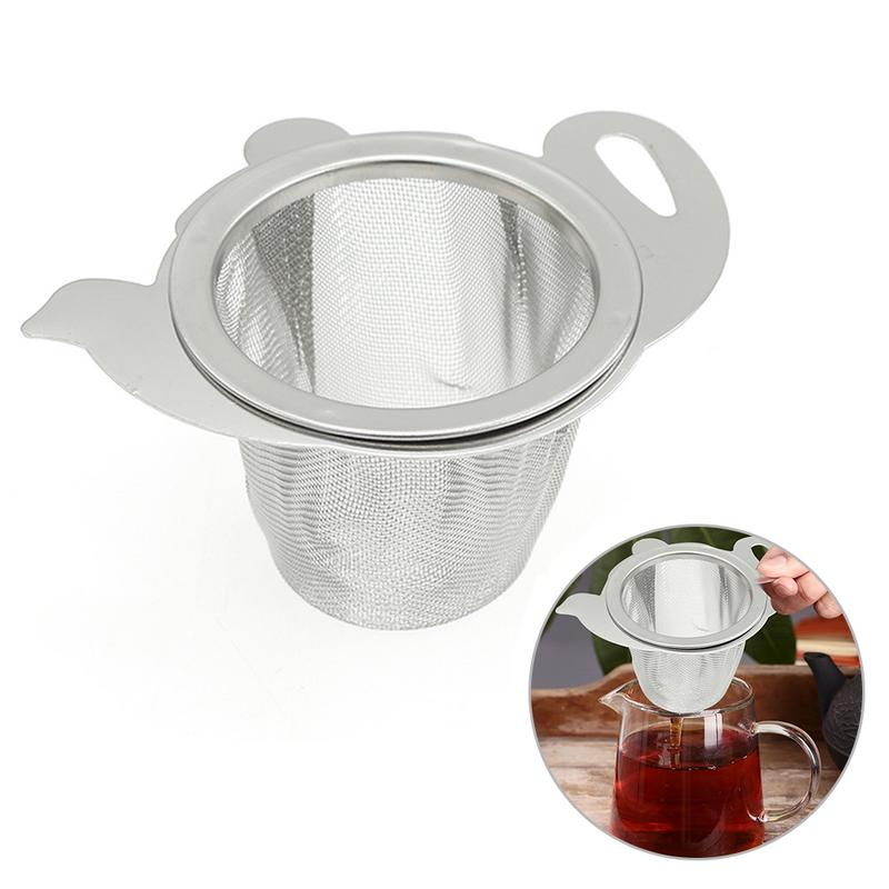 New Arrival 1Pc Household Silver Color Tea Strainer Mesh Creative Stainless Steel Teapot Filter Drainer Kitchen Tools 10