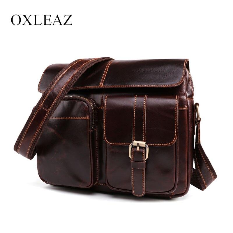 OXLEAZ marque de mode homme sac à bandoulière pour hommes cire à l'huile en cuir véritable petits sacs décontracté sac à bandoulière pour homme