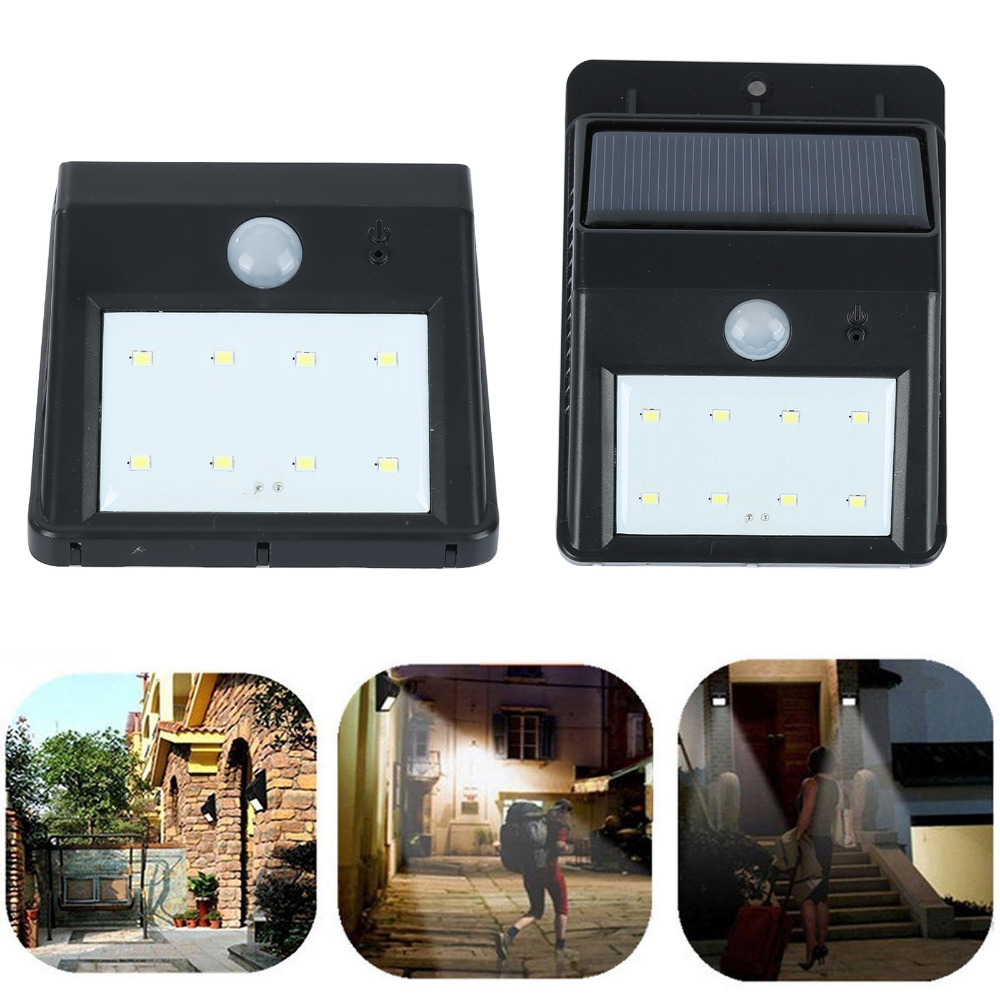LED Solar Outdoor Light LEDs PIR Motion Sensor Light Energy Saving Wall Lamp Panel Powered Motion Sensor Led Lamp