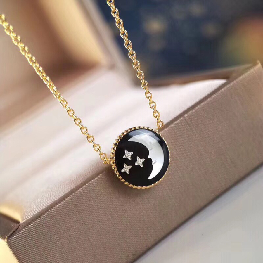 2019 New Charms Sun Moon Star Pendant Necklace 925 Sterling Silver Fashion Chain Luxury Jewelry For