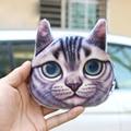 Women change purses 2016 mini kawaii purse 3D printing animal coin bag cats dogs big face cheap purses for girls free shipping