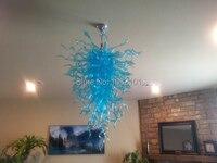 Бесплатная доставка AC светодиодные Небесно Голубой взорван Стекло кулон Освещение