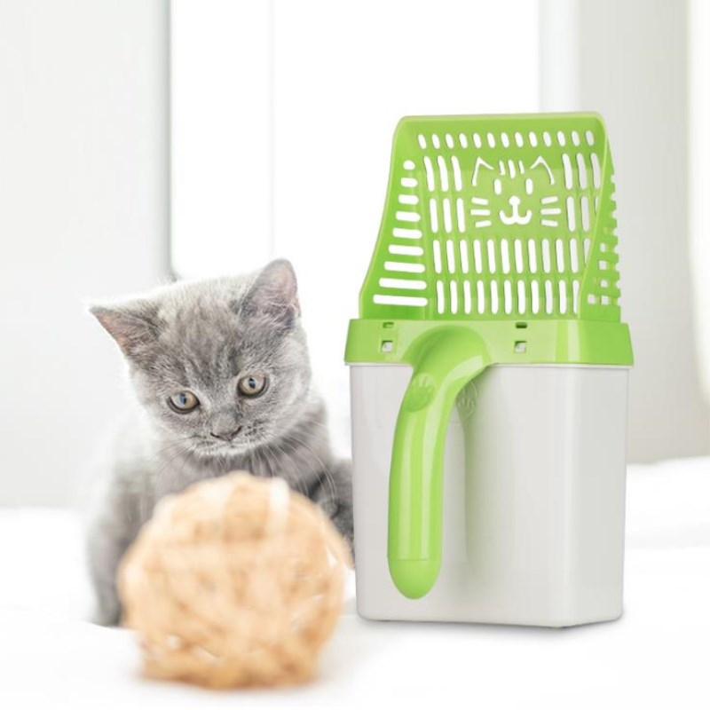New Arrival Pet Cat Litter Neater Scooper Potable Genie Cat Litter Sifter Scoop System Kitty Pet Cleaning Supplies