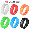 Smartband W6 Sports Intelligent Pedometer Smart Bangle Wristband USB LED Watch Fitness Tracker Temprature Silicone Bracelet