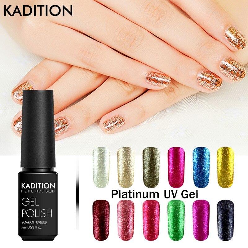 kadition glitter platinum gel nail