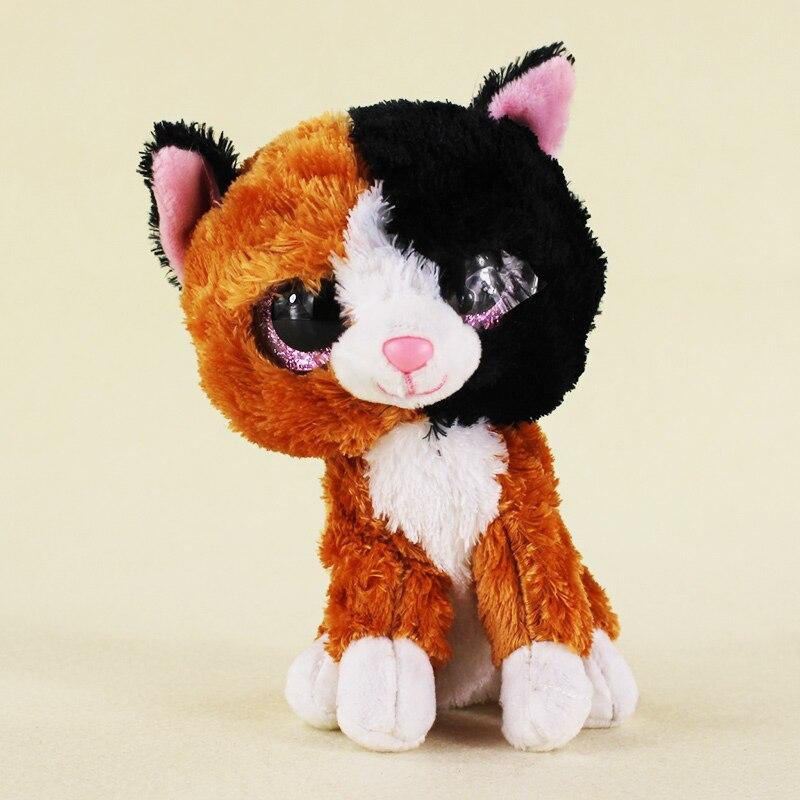 15 см Ty Beanie Боос большие Средства ухода для век плюшевые игрушки куклы детские Leona cat подарок для детей Бесплатная доставка