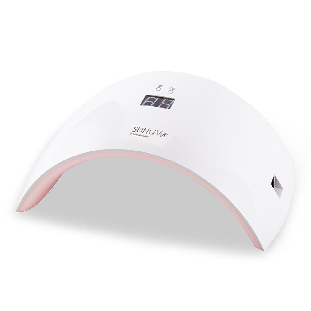 SUN9X 24W UV Lamp Nail Dryer LCD Time Display Auto Sensing Double LED UV Light UV LED Nail Lamp For Curing Nail Gel Polish