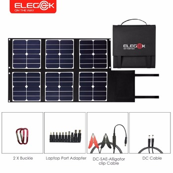 ELEGEEK 80W Foldable Solar Panel Charger SUNPOWER Portable Solar Panel with DC 18V USB 5V Output for Cellphone Laptop Power Bank