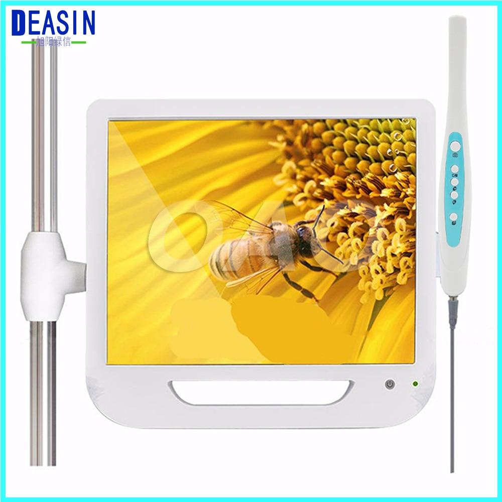 2018 di Buona Qualità 17 Pollice Monitor USB/Wifi Intraorale endoscopio Endoscopio Fotocamera 6 Led Fotocamera Fotocamera Dentale Dental Luce Denti
