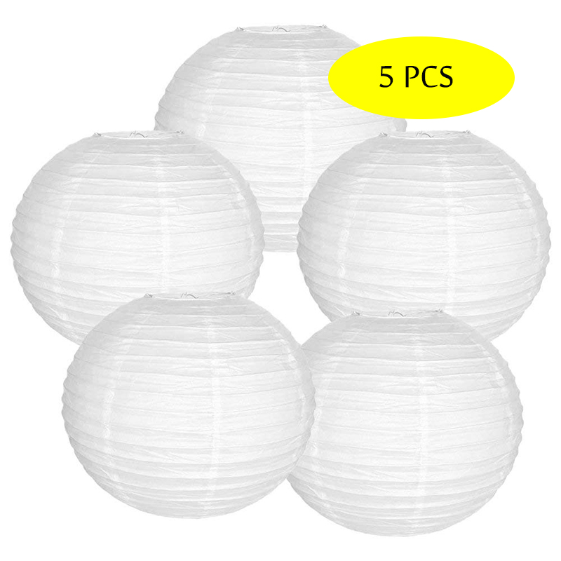 5 Pcs/set White Paper Lantern Round boule chinoise papier linternas Chinese lampion Wedding Party Hanging Christmas Decor Favor5 Pcs/set White Paper Lantern Round boule chinoise papier linternas Chinese lampion Wedding Party Hanging Christmas Decor Favor