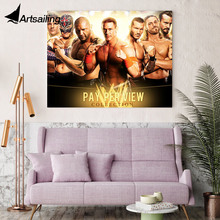 1 piece canvas painting john cena the rock boxing game posters and prints for living room XA-1859D