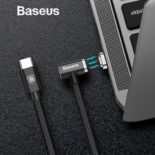 Baseus 86W Magnetic USB Type C Cable For Macbook Elbow Charge Cable for Samsung Galaxy S8 S9 PD 3.0 Quick Charge USB C Cable
