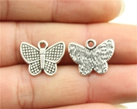 WYSIWYG 10pcs 13*17mm Butterfly Charms, Vintage DIY Handmade Jewelry Accessories