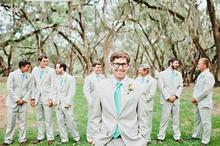2018 arrives in groom's dress, notch, lapel suit, ivory best man / best man, marriage / Dance Dress (jacket + pants + tie + belt