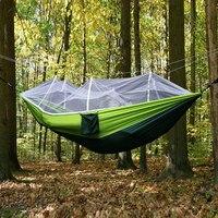 Hammock Tent Rede Outdoor Camping Hammocks Canvas Bed De Dormir Mosquito Net Tente Suspendue Nylon Double