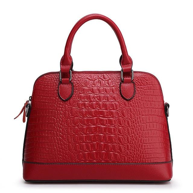 2017 new fashion casual crocodile skin ladies handbag ladies bag shoulder leather bag