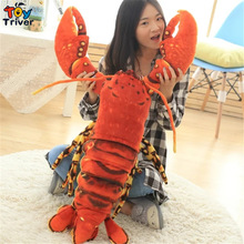 Creative Plush 3D Simulation Lobster Pillow Cushion Toys Stuffed Doll Kids Baby Birthday Gift Shop Restaurant Decoration Triver