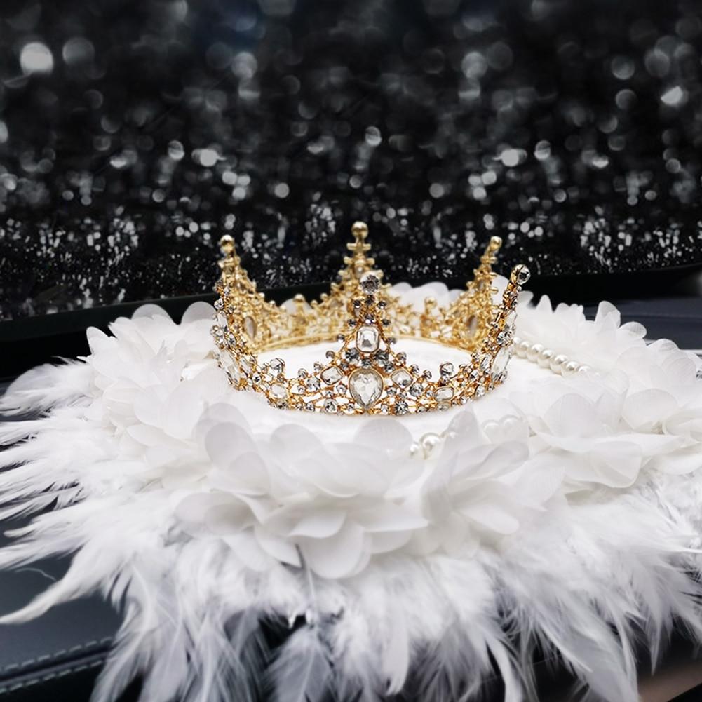 Nouvelle couronne diamant perle ornements plume cadeau mignon créatif voiture intérieur luxueux décorations pour fille pour les femmes