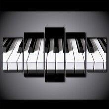 Piano keys canvas art