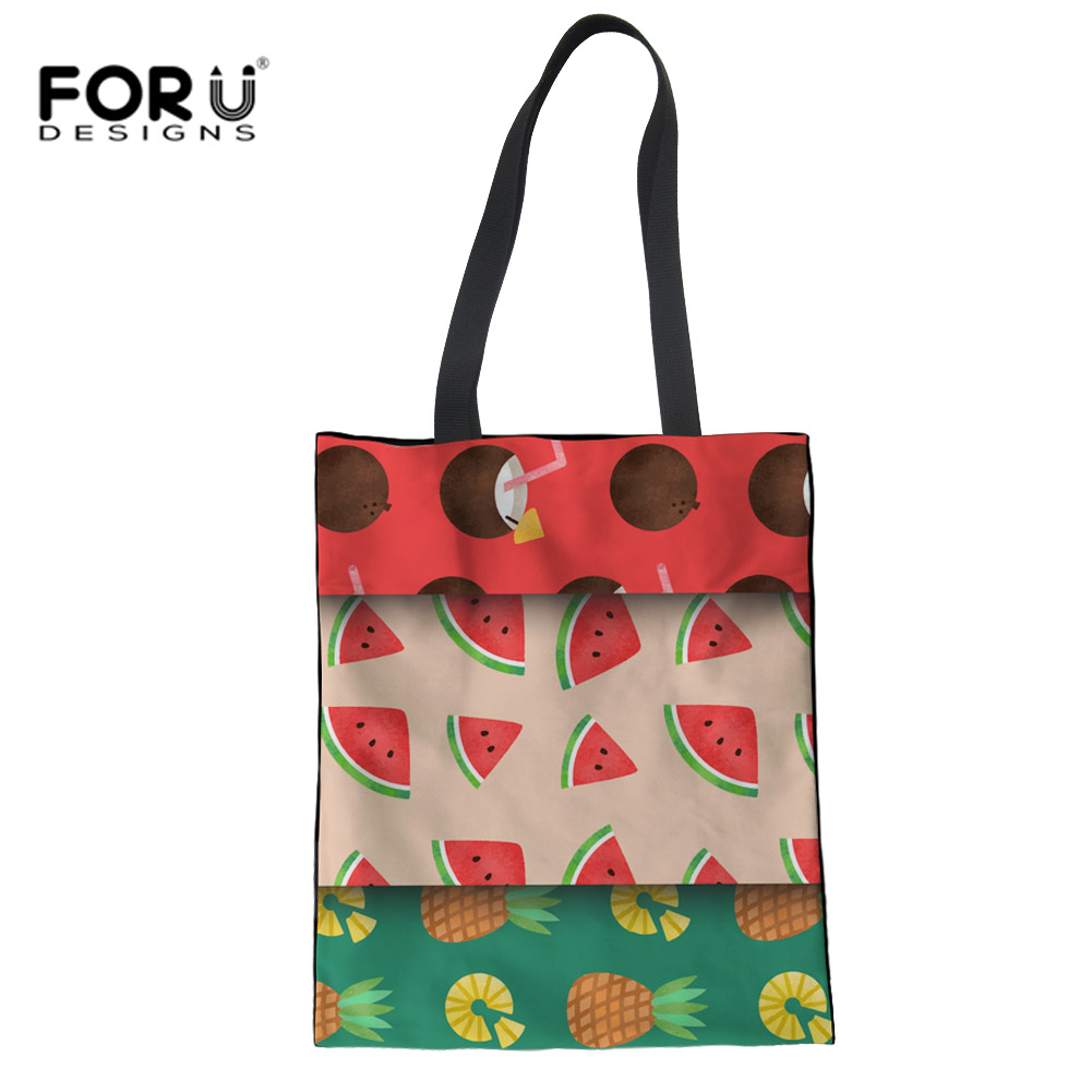 FORUDESIGNS School Shoulder Bags for Children Girls School Bags Candy Color Fruit Print Cross Body Messenger Bag Bolsa Feminina