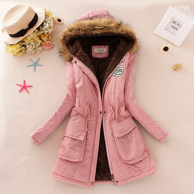 2019 Women Fashion   Parkas   Winter Jackets Coats Faux Fur Hooded Collar Cotton Wadded Casual Long   Parkas   Laidies Overcoat