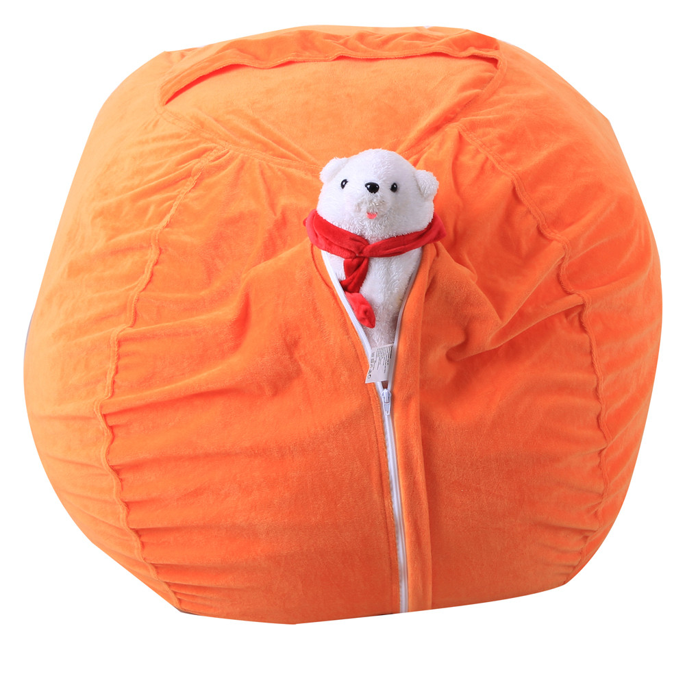 Kids Stuffed Animal Super Soft Short Plush Toy Large Capacity Storage Bean Bag Soft Pouch Stripe Fabric Chair Droship 23May 28 2