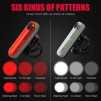 Fiets Achterlicht Fiets Zadelpen Visuele Waarschuwing Achter Terug Veiligheid Lamp USB Oplaadbare Hoofd Front Handvat Bar Lantaarn COB LED