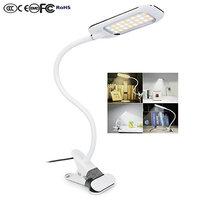 Artpad 5W Reading Lamp Clamp Clip On Light 24 LEDS 3 Lighting Mode USB Charging Flexible