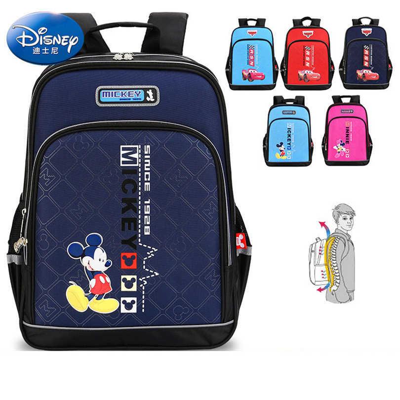7d40ba443886 Disney 2018 Микки Водонепроницаемый ортопедический рюкзак школьные сумки  для мальчиков мультфильм школьный Ultralight дети портфель Класс