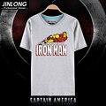 2016 Iron man camiseta hombre camisas de las camisetas Short Cosplay anime unisex tapas de las tes HU316-8