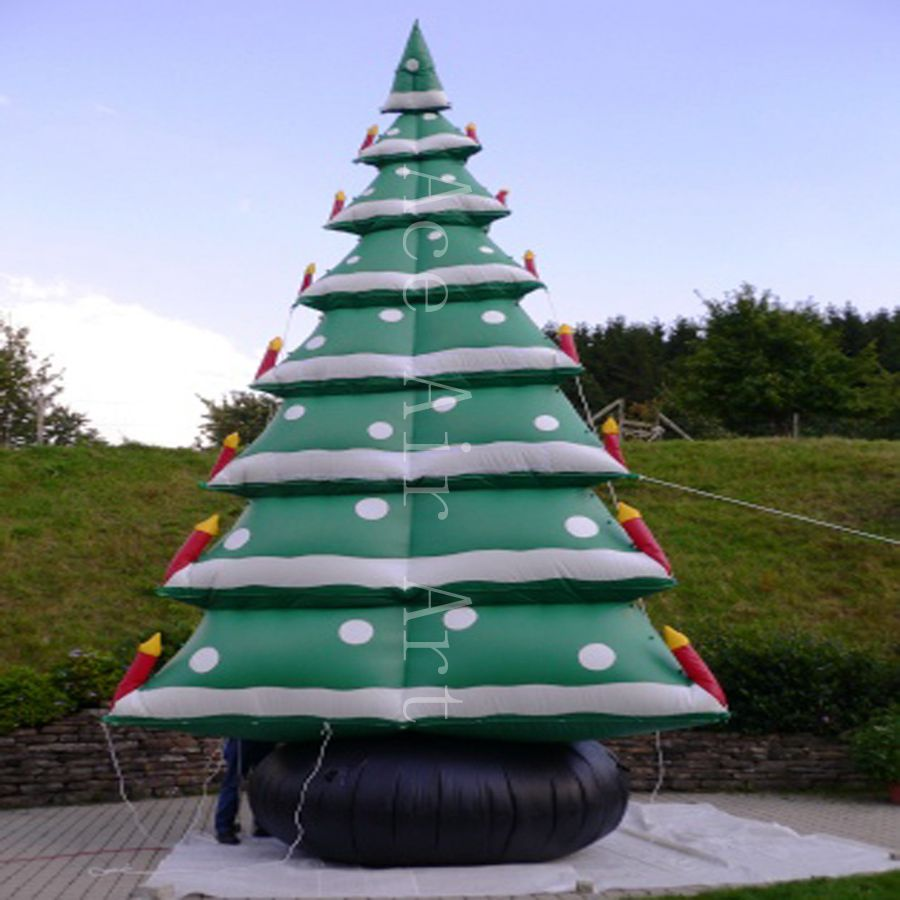 Outdoor Christmas Tree With Lights.Us 780 0 Free Fans Outdoor Christmas Tree With Snow Advertising Inflatable Archway For Decoration Holiday Events In Trees From Home Garden On