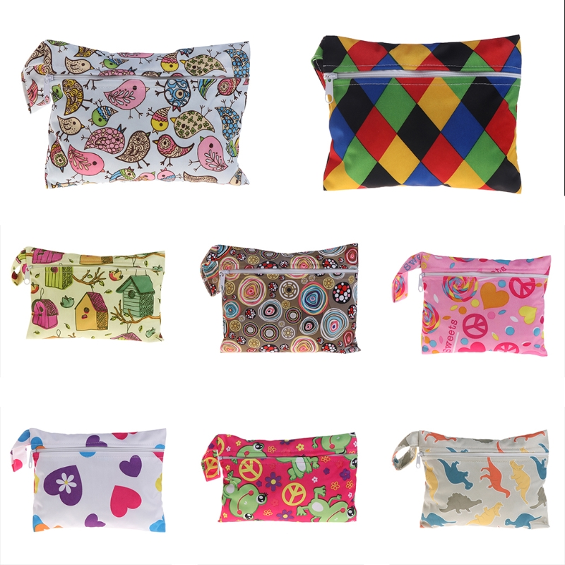 Mini Nursing Wet Bag Waterproof Reusable for Mama Cloth Menstrual Pads  XJ