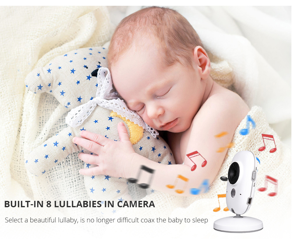 Image 3 - 3.2 Inch Baby Monitor Wireless Video Color Baby Nanny Security Camera Baba Electronic Night Vision Temperature Monitoring VB603-in Baby Monitors from Security & Protection