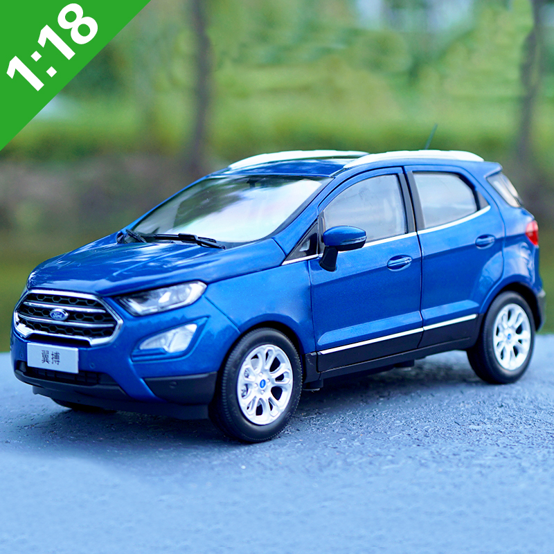 New 1:18 Diecast Model For Ford Ecosport 2015 Orange Blue