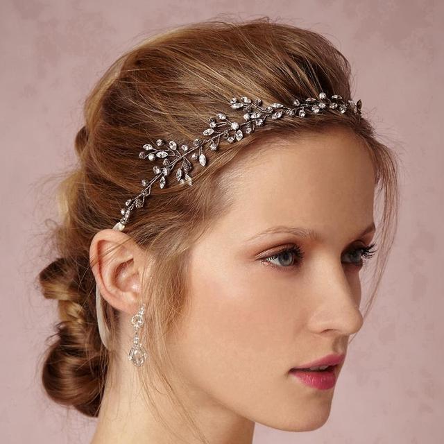 Estrelas de cristal Twinkle Prateado Acessórios Para o Cabelo Delicado Testa Wrap 1920s-inspired Adorno Casamento Cabelo Pentes de Cabelo Mão