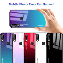 For huawei P20 P10 lite Pro P smart Nova 3 3i Plus 3e Gradient Glass Cover For huawei Mate 20 Honor note 10 9 8 lite Soft Case(China)