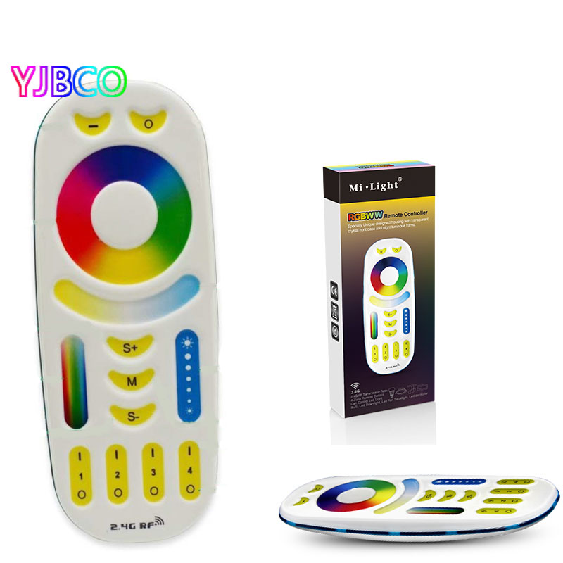 4 Zone RGB+CCT 2.4GHz Remote controller 2 in 1 Full touch 4-zone group control for Milight RGB+CCT led bulb good group diy kit led display include p8 smd3in1 30pcs led modules 1 pcs rgb led controller 4 pcs led power supply